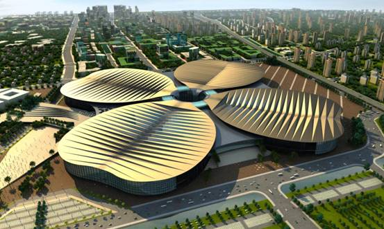 Chinese National Exhibition and Conference Center, Hongqiao, Shanghai, China.